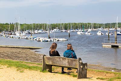 Time for a break beside the Solent Way at Buckler's Hard