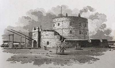 Calshot Castle on an 1805 print by Samuel Prout