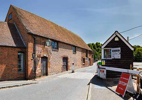 Eling tide mill and adjacent toll bridge