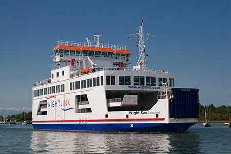 An Isle of Wight ferry at Lymington
