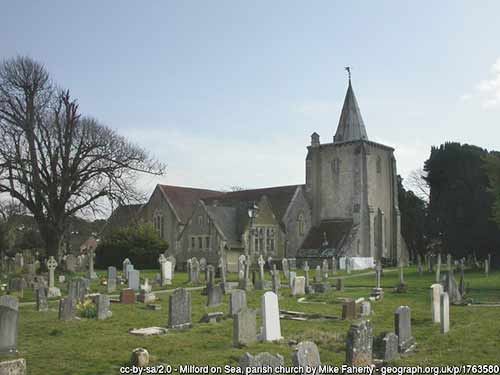 The Church of All Saints, Milford on Sea