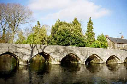 Fordingbridge's seven-arch bridge at the entrance to the town
