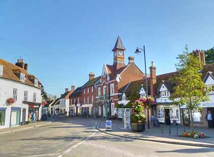 Fordingbridge - High Street and the Victorian town hall