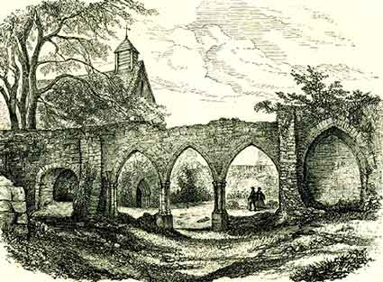 Beaulieu Abbey - an 1878 view produced by Edward Walford