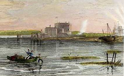 Calshot Castle - from Mudie's Hampshire Past and Present (1839)