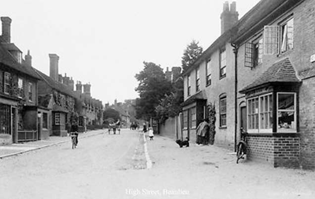 Beaulieu village - another early image of the High Street
