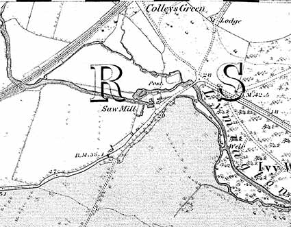 Brockenhurst Mill, as shown on the 1870 Ordnance Survey map