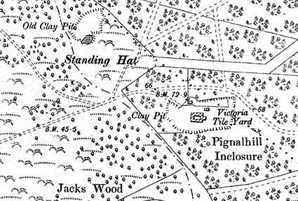 The Victoria Brick and Tile Works, as shown on the 1898 Ordnance Survey map