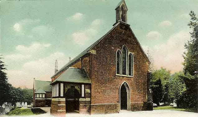 Burley church - another scene from the early 20th century
