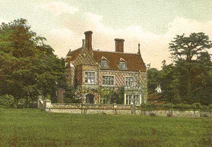 Burley Manor, shown on an early 20th century postcard