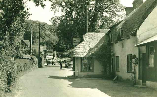 Burley - the main village street in 1955