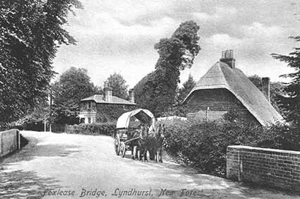 The old turnpike gate house by Foxlease Bridge