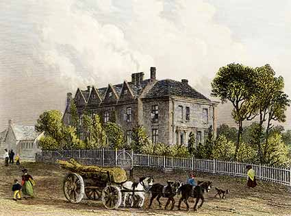 Queen's House as shown on a pre-1837 print