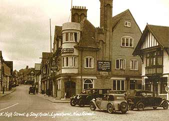 The Mailmans Arms and The Stag Hotel, Lyndhurst - historical image
