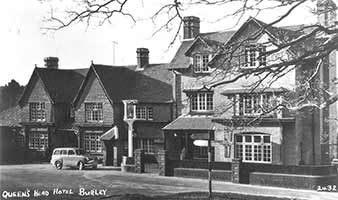 The Queens Head, Burley - historical image