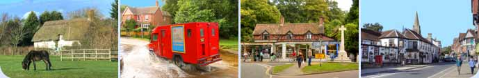 New Forest villages composite image
