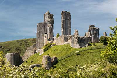 The ruined castle at Corfe