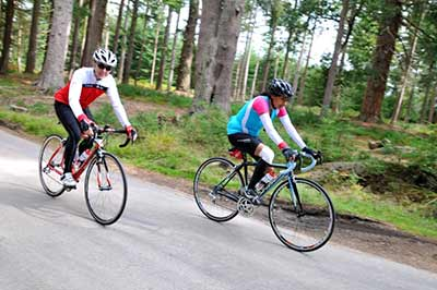 Cyclists can enjoy many miles of off-road cycle tracks